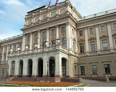Fragment of the Mariinsky Palace in Saint Petersburg. Russia.