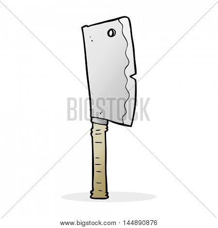 cartoon meat cleaver