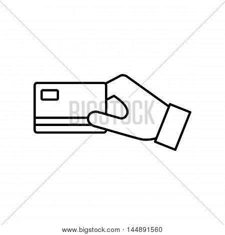 Credit card payment symbol isolated on white background. Flat line vector icon for web sites and apps.