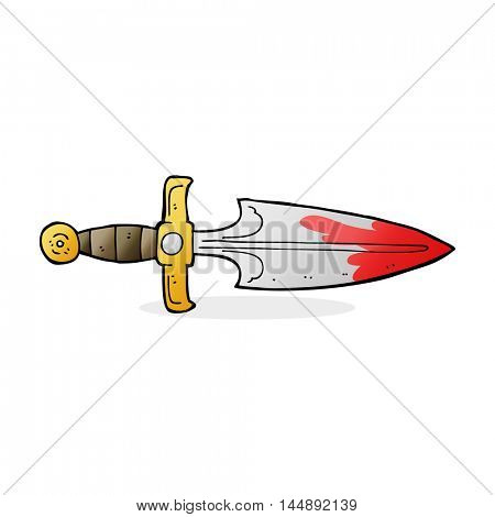 cartoon bloody dagger