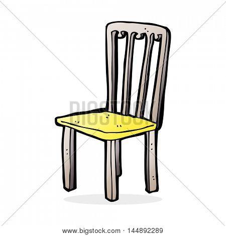 cartoon old chair