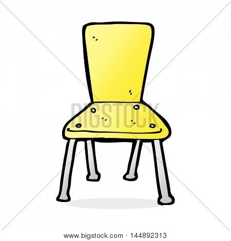 cartoon old school chair