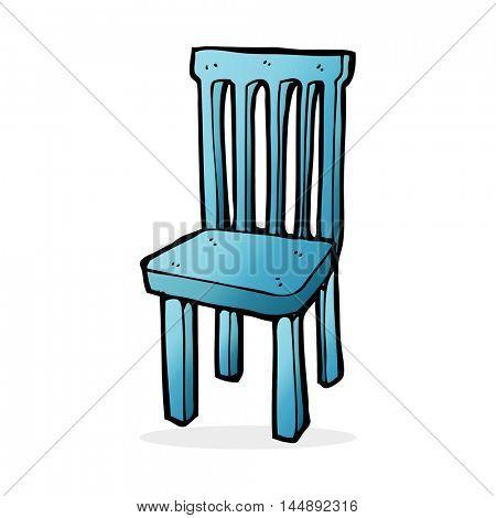 cartoon wooden chair