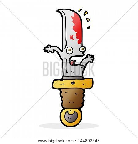 cartoon frightened knife