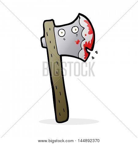 bloody cartoon axe