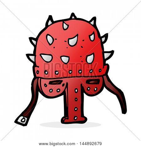 cartoon spiked helmet