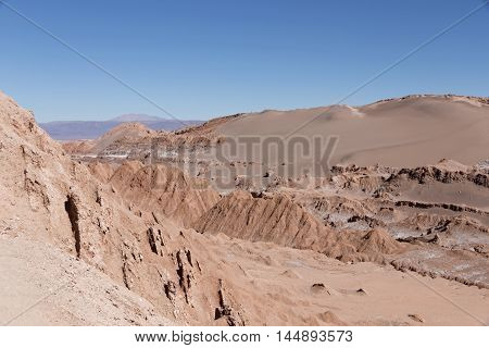 View from Valle de la Luna (Moon Valley), Atacama Desert, Chile