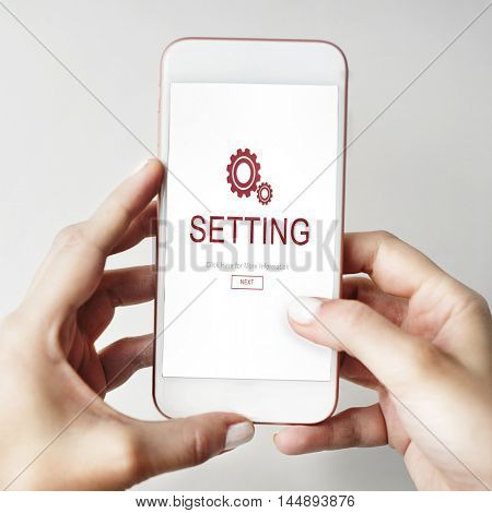 Settings Electronic Device Homepage Concept