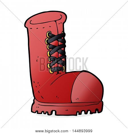 cartoon old work boot