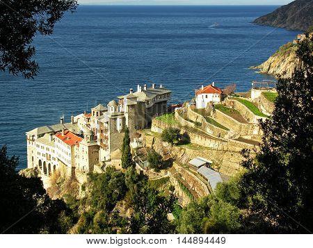 Holy Mount Athos Monastery Gregoriou Greece. Афон