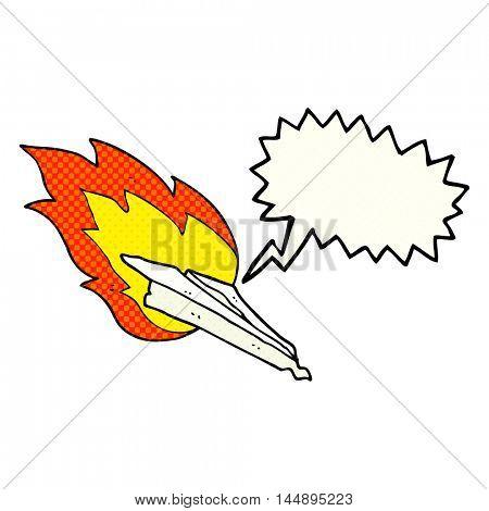 freehand drawn comic book speech bubble cartoon paper plane crashing