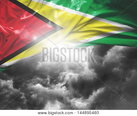 Guyana flag on a bad day