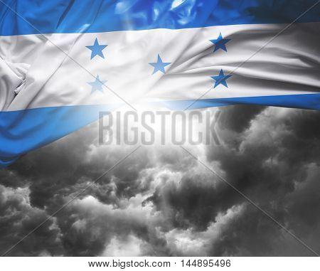 Honduras flag on a bad day