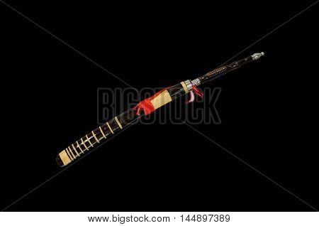 Thailand's ancient sword (saber) isolate on black background