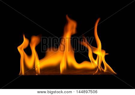 abstact wallpaper fire flames on black background