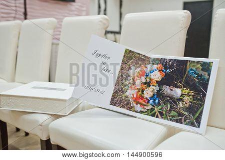 white leather elite wedding book and album