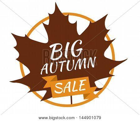 Big autumn sale - vector - illustration