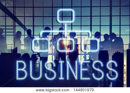 Business Organization Chart Company Concept
