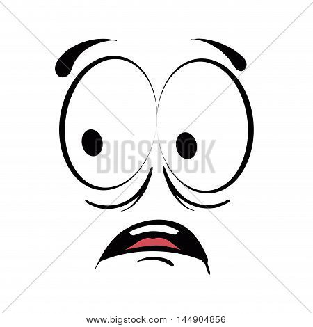 face cartoon surprise character emotion expressive emoticon  vector illustration