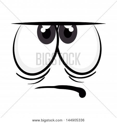 angry face cartoon character emotion expressive emoticon  vector illustration