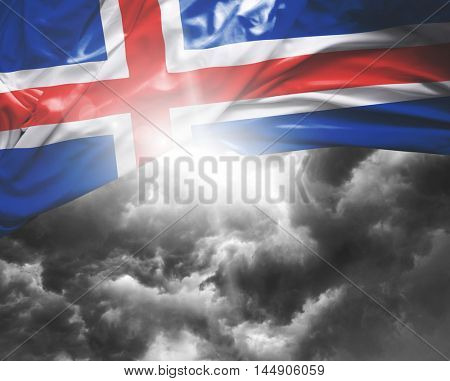Iceland flag on a bad day