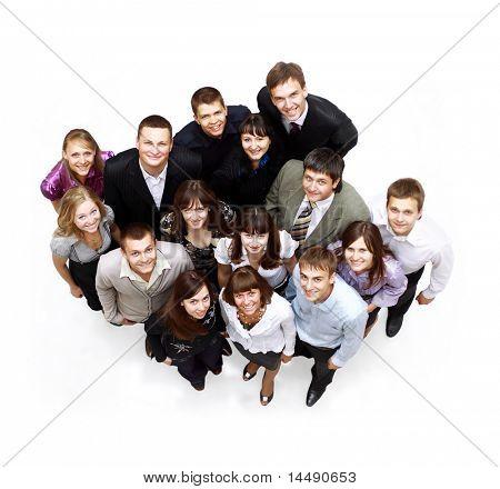 Grande grupo de pessoas de negócios. Sobre fundo branco