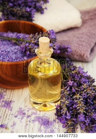 Lavender, Sea Salt, Oil  And Candle