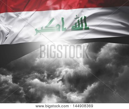 Iraq flag on a bad day