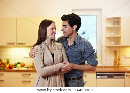 Young Couple In New Appartment