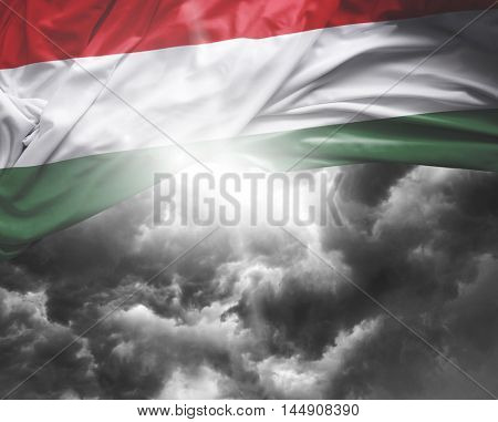 Hungary flag on a bad day