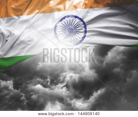 India flag on a bad day