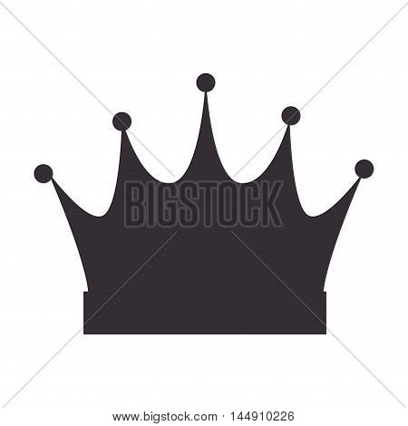 crown queen royal jewelry royalty accessory vector illustration