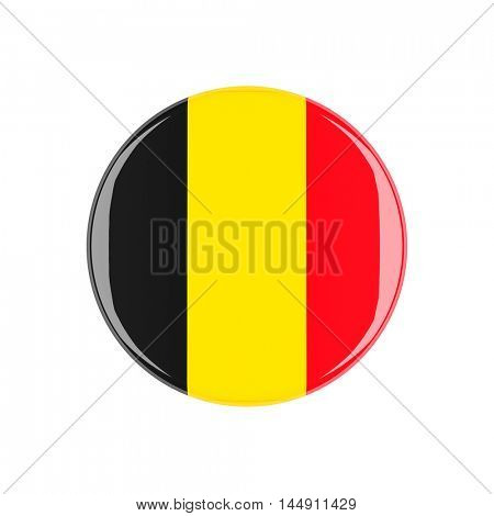 belgium 3d button isolated on white background