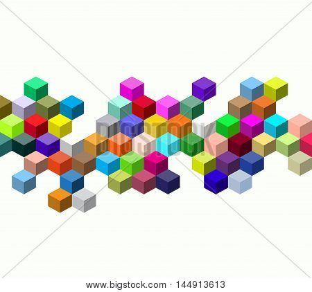 Abstract colors cube, Abstract colorfull cube background