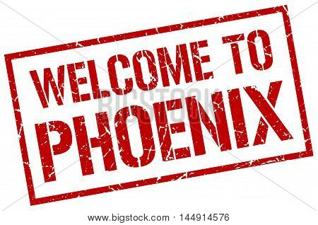 welcome to Phoenix. stamp. grunge square sign