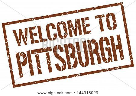 welcome to Pittsburgh. stamp. grunge square sign
