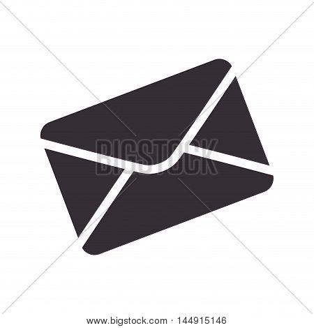 envelope mail message port email letter silhouette vector illustration