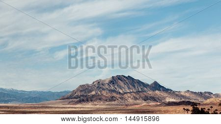 Mountains Landscape. Panoramic Autumn Landscape.