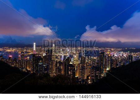 China. Hong Kong Cityscape Urban Scene