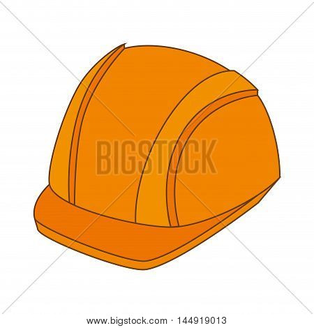 helmet protection security construction safety head equipment vector illustration
