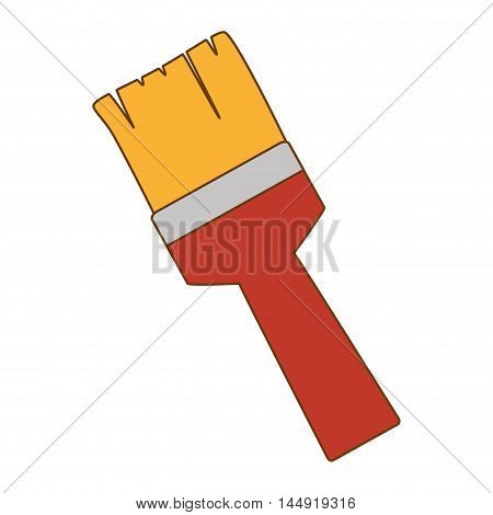 paint brush repair and fix construction tools equipment vector illustration