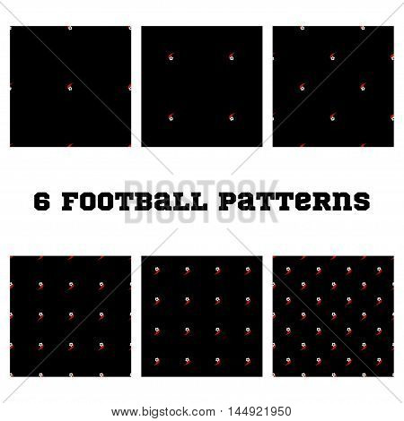 Set. seamless pattern Football ball on a white background.