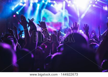 Crowd Applauding On A Concert
