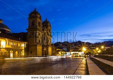 Cusco Cathedral After Sundown