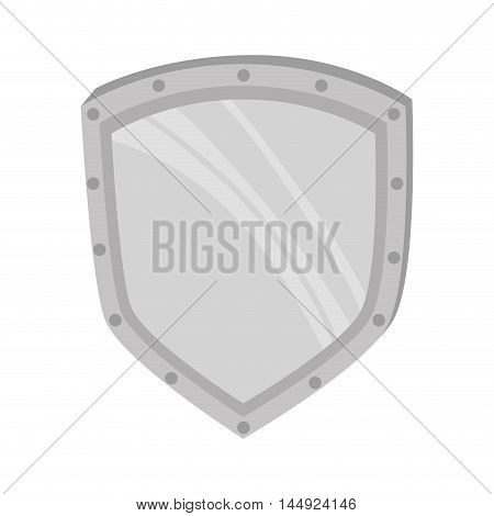 metal shield steel defending protection medieval weapon vector illustration