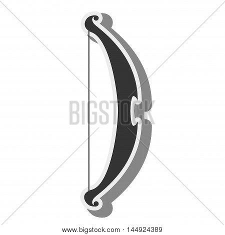 bow and arrow arc archery weapon medieval silhouette vector illustration