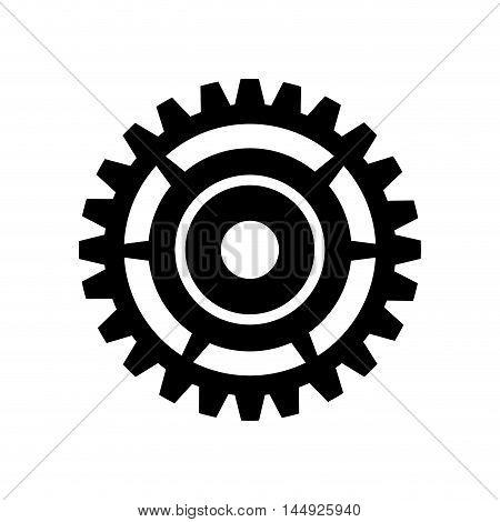 gear cogwheel device mechanical power transmission silhouette vector illustration