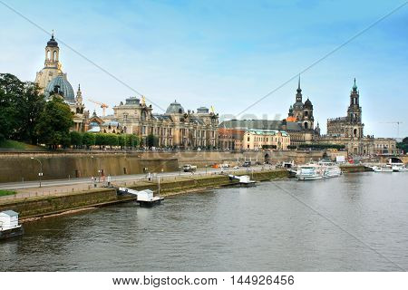 Dresden Germany above the Elbe River .