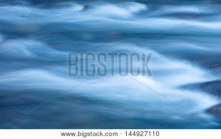 nature abstract movement blue water river flow