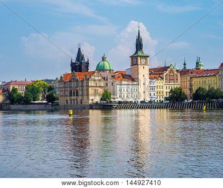 River Vltava Prague Czech Republic